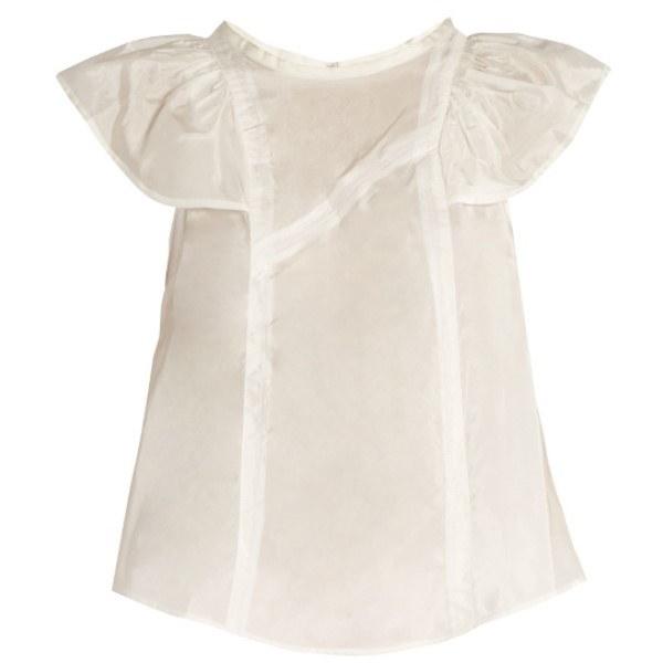 イザベル マラン Isabel Marant レディース トップス カジュアルシャツ【Anselm ruffled top】White