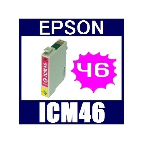 ★値下げしました!★即日発送/安心1年保証 EPSON(エプソン) IC46シリーズ 互換インクカートリッジ ICM46 (マゼンタ)