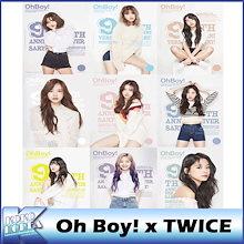 【予約・送料無料】【数量限定】Oh Boy!  x TWICE / Oh Boy マガジン 9周年記念号 表紙 トゥワイス / メンバー選択 / 韓国雑誌