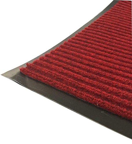 fuusui8 業務用 玄関マット 屋外 泥落とし 屋内 厨房 入口用滑り止め付き ドアマット 6090cm (レッド)赤60×90?