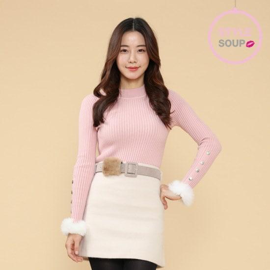 森SOUPレックス袖ボタンゴルジニートSTCLKH3 ニット/セーター/ニット/韓国ファッション
