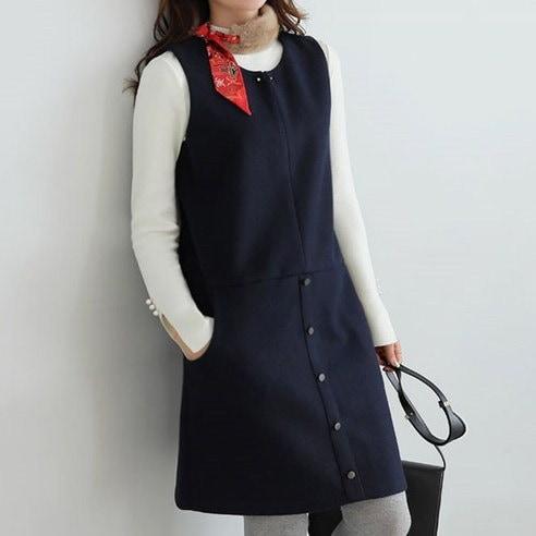 [ClicknFunny] Parisian Wool Piece OP4353 Korean fashion style