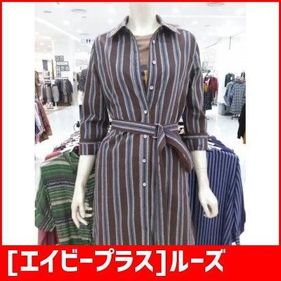 [エイビープラス]ルーズフィットベルティトゥロング南方シャツ(LSS4ZB76I) /ルーズフィット/ロングシャツ/ブラウス/ 韓国ファッション