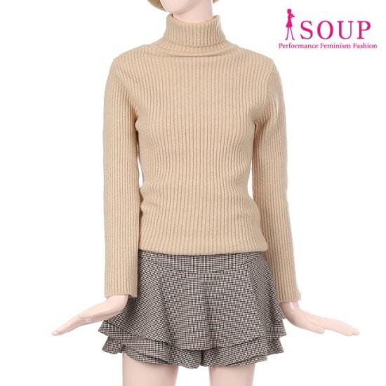 森SOUPゴルジタートルネックソフトプルオーバーSTBLK95 / ニット/セーター/タートルネック/ポーラーニット/韓国ファッション