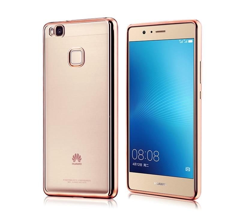 Huawei P9 lite/Huawei P9lite用専用TPUケース/ソフト保護カバー/クリアケース/メッキタイプ保護カバー【管理番号:F103】