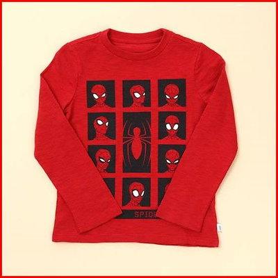 [ギャップ]キッズボーイスパイダーマン長袖シャツ5218426243061 /プリントTシャツ/キャラクターTシャツ/韓国ファッション