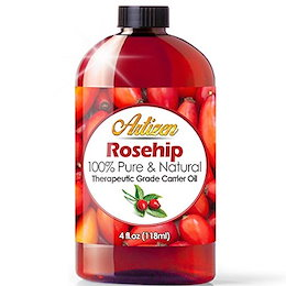 4oz Rosehip Oil by Artizen (100% PURE & NATURAL) - Cold Pressed & Harvested From Fresh Roses Bush...