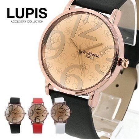 フラワーモチーフフェイスラウンド腕時計(3色あり) レディース【レディース 女性用 ウォッチ ベルト 腕時計 人気 かわいい 安い 腕時計 ウォッチ】
