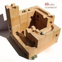 <¥25000→カートクーポンでお得に購入♬4/19~4/22まで!>天才脳を育てた藤●六段のおもちゃ WoodEncube社の立体パズル(standard)60キューブ 10個木の立体パズル