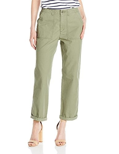 Levis Womens Utility Chino Pant, Hazy Deep Lichen Green, 29/9