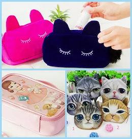 おまけつき♪ 【国内配送】猫好きにはたまらない♥ 猫ポーチ 小銭入れ 化粧ポーチ 韓国 メイク