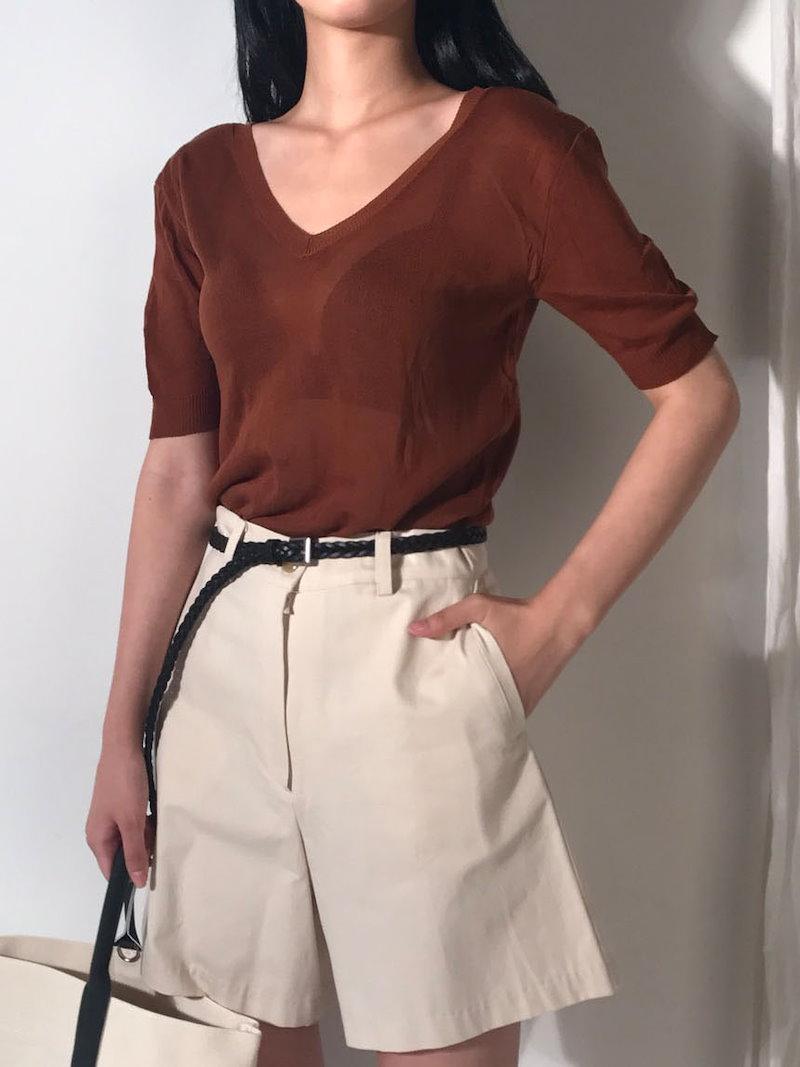ブラウザニックセンシュアルVネックニットkorea fashion style