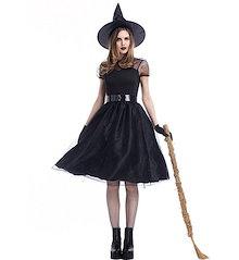 新発売♪ レディース ハロウィン Halloween コスプレ 仮装 魔女 コスチューム  コスプレ衣装  コスチューム 可愛い 女子服 魔法