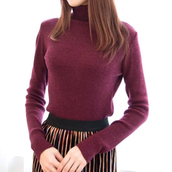 クッキーセブンP3490ボカシタートルネックのニート6color ニット/セーター/タートルネック/ポーラーニット/韓国ファッション