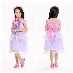 1018209d24f3c ラプンツェル 風 ドレス 子供 衣装 コスプレ ハロウィン 仮装 キッズ コスチューム zz