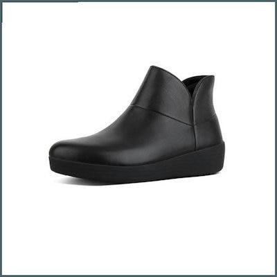 [ピップルラプ][スーパーモードIIアンクル・ブーツ]のオールブラックレザー女性FFSO8F709BK /ブーツ/ウォーカー/アンクルブーツ/ブーツ/韓国ファッショ㠼/td>