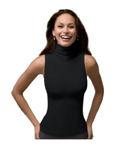 SPANX On Top and In Control Chic Sleeveless Turtleneck (974) Black Size Large