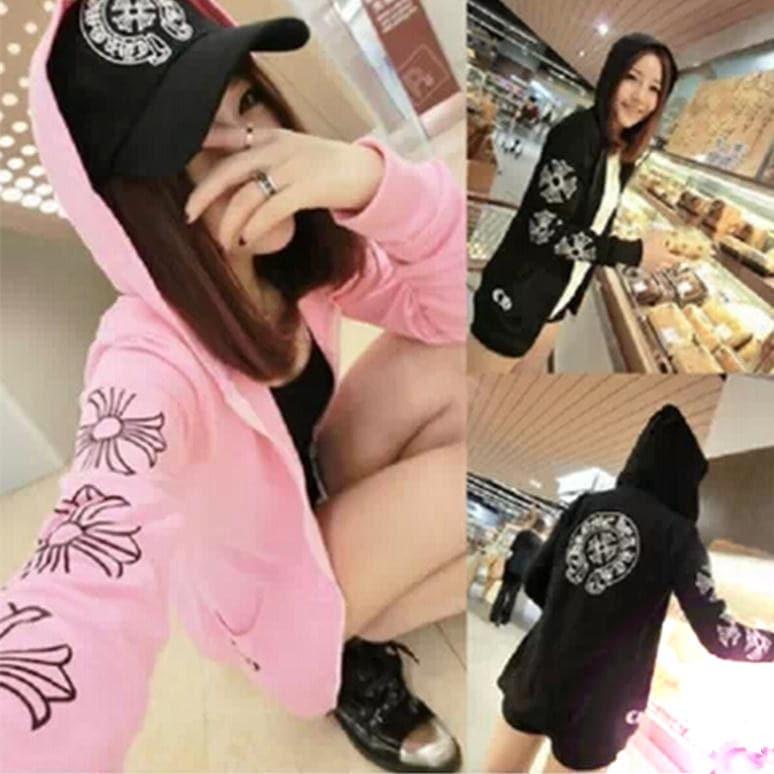 Chrome Hearts Q7986 new fall fashion wild rose flower cardigan sweater Hoodie