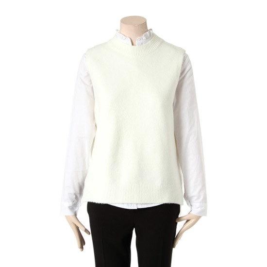【タプゴル]オンバルニットベストTIZ1SW613F_013 ニット/セーター/ニット/韓国ファッション