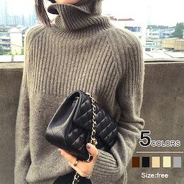 7天内凳送!新色追加!韓国の人気爆発商品!厚手のハイネックニット服、セーター女性ルーズレイジーウールセーター/ハイカラー大サイズ無地厚手シャツ、外でおしゃれなセーターを着る