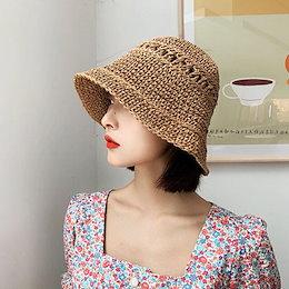 【ANDSTYLE】韓国ファッション/ペーパー バケットハット/かわいいAラインシルエットが特徴 ペーパーハット_246096