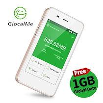 GlocalMe モバイルWi-Fiルーター 車載Wi-Fi 4G/LTE 高速 SIMフリー スマホ・パソコンに対応 フリーローミング 国内発送 配送料無料