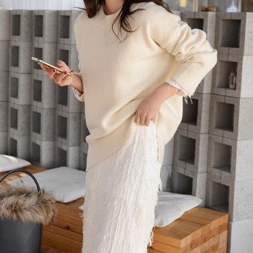 さらにムードH547オレオクリームニットkorean fashion style
