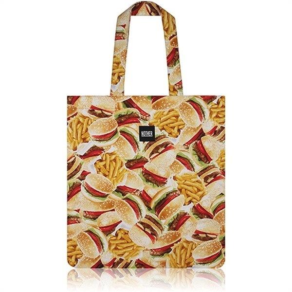 [韓国直送] nother Buger&Fries Flat Tote Bag /ナドハンバーガーパターンフラットトートバッグ