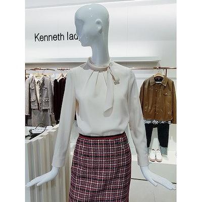 [AK公式ストア]【kenneth lady] [ケネスレディ] EGBLIJ8200ハイネックタイブラウス