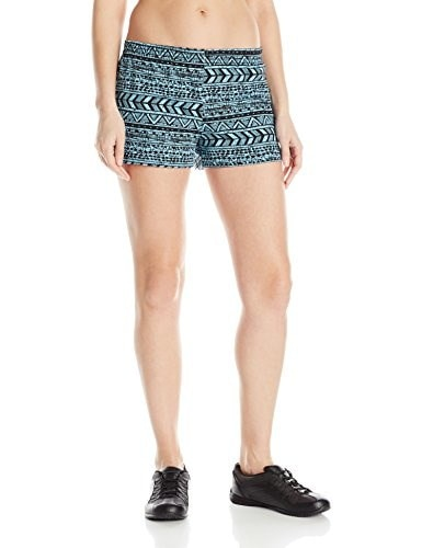 Soffe Womens JRS Printed Low Rise Short, Aztec Stripe Surf, X-Small