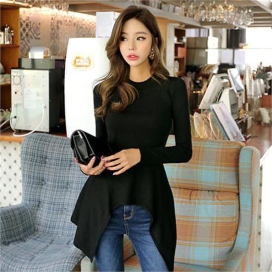 プラン第二行き来するようにプラン第二ウォンモオオンバル・ニットシャツ ニット/セーター/ニット/韓国ファッション
