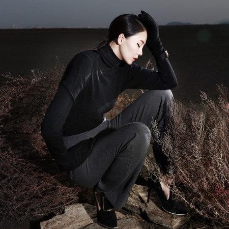 [ディントゥ] E-4057カシミヤベーシックタートルニットトップkorea fashion style