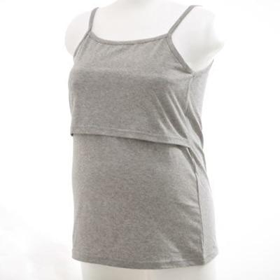 授乳服★ベーシックアイテム二種類の基本シンプルな無地デザインの授乳タンクトップ授乳キャミソール lst0011