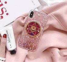 国内発送★  iPhoneケース クリスタルスター ホログラム ラメ ピンク iPhone ソフトカバー   iPhone6  iPhone7  iPhone8  iPhoneX plus  大人気