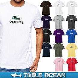 \期間限定SALE▶▶1699円✨/7MILE OCEAN Tシャツ メンズ 半袖 カットソー アメカジ ロゴ パロディー ネタ おもしろ 人気ブランド アウトドア ストリート 大き目 大きいサイズ ビックサイズ対応 18色