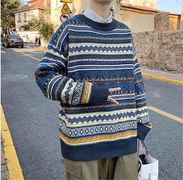 【限定SALE!!冬季新品 】韓国ファッション 暖かい 厚手 ゆったりする メンズ セーター ニットトップス トレンド 怠惰な風 カジュアル