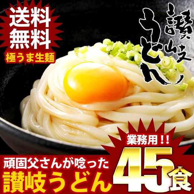 (送料無料) 讃岐生うどん 麺300g×15袋(45食)本場香川の製麺所から直送!他とは違う…訳ありじゃないのにこのお値段!