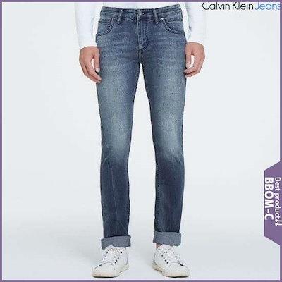 [カルバン・クラインのジーンズ]男性・スカルテッド・スリムフィットのデニム(J306066) /パンツ/スキンパンツ/韓国ファッション