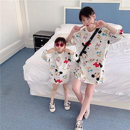 2色親子ペア ディズニー ミッキーマウストレーナー  韓国 レディースファッション ママと娘 おそろい服 親子服 家族お母さん子 父と息子 お揃い服 ペアルックカップル 子供服