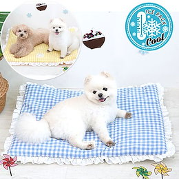 Pets Check iced cool mat Cushionペット用品夏新作簡単なクリーニングと保管韓国製