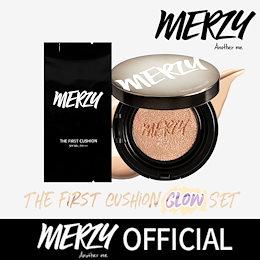 【MERZY】❤しっとり💦ツヤ肌✨❤カバー+持続力抜群 / ザ·ファースト·クッション·グロー / 企画セット✔数量限定👀/本品1個+リフィル1個+パフ3個