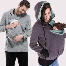 両用育児袋の秋冬のお母さんの多機能取り外せるので赤ちゃん寝袋カンガルースウェット