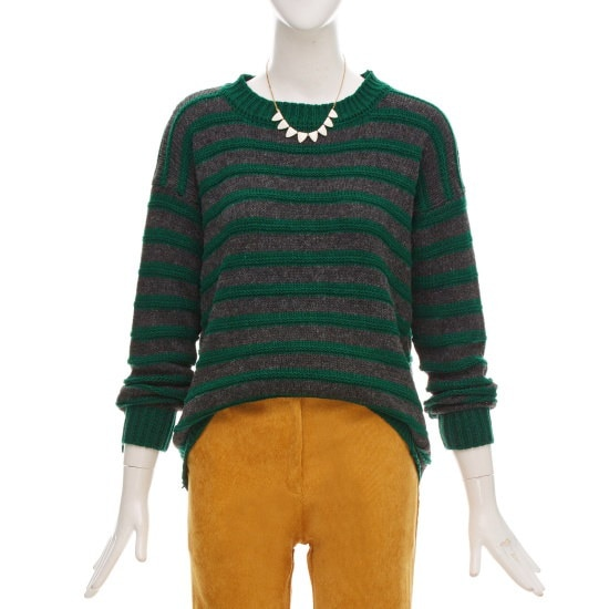 フォーカスのストライプルーズフィットニートCFGW1KT9060 ニット/セーター/韓国ファッション