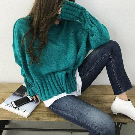 第スピンヴィンテージポーラニットkorean fashion style