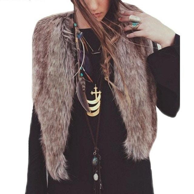 かわいいファッションの女性のロングヘアジャケット男性用ベストベストノースリーブコートアウター