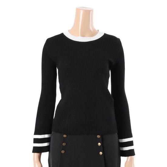 パパイヤジュルカラ・ニットシャツCNGRTP009D ニット/セーター/韓国ファッション