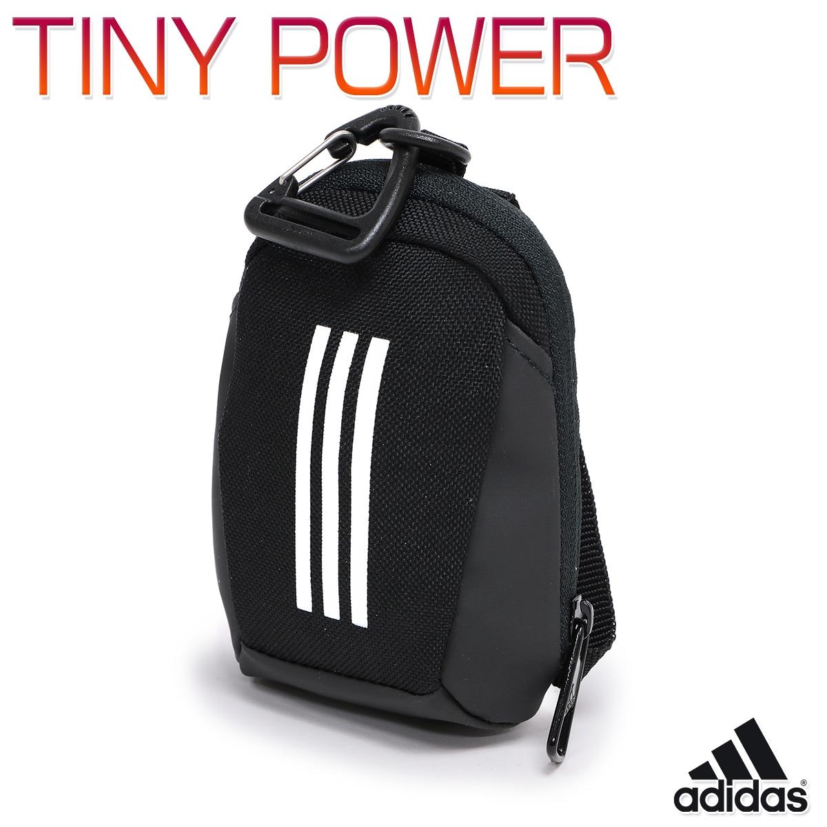 アディダス TINY POWER キッズ/子供/メンズ/レディース ポーチ ブラック W約7.5cm×H約11cm×D約3cm IEV91