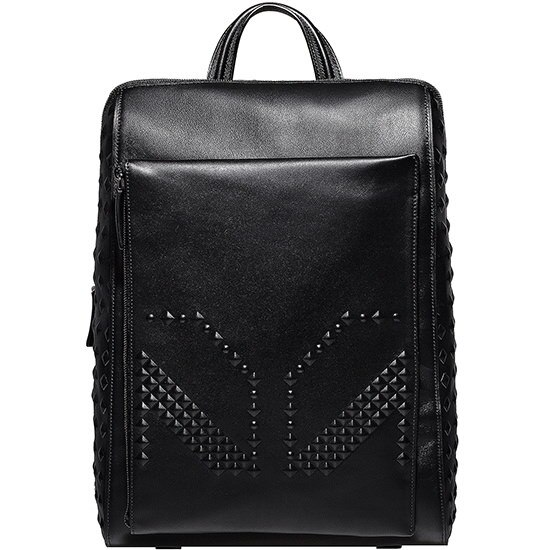 ★【MCM 正規品】★15SS  M MOMENT MEDIUM BACKPACK★MMK5SXO65BK★【EMS無料発送】★