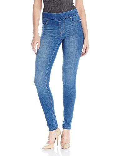 Liverpool Jeans Company Womens Sienna Pull-On Silky Soft Denim Skinny Jean Legging, Lanier Mid Blue, 8