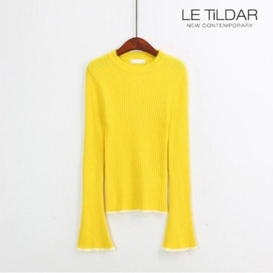 ルティルダアンゴララインテープニットから ニット/セーター/ニット/韓国ファッション